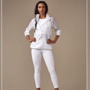 NWT Lululemon Run With It White Windbreaker Jacket